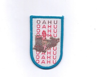 Vintage Oahu Hawaii Island Patch