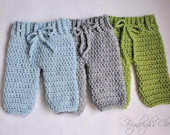 Crochet Newborn Pants, Newborn Photo Prop, Boy Photo Prop, Crochet Photo Prop