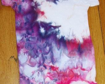 ONESIE 24 mo Tiedye Bold Pink Blue Purple White Colors