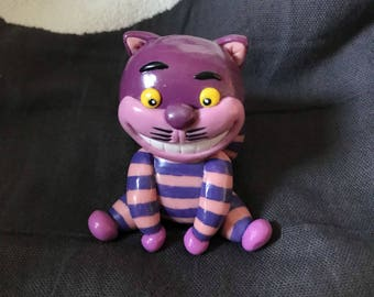 Polymer clay Cheshire Cat Alice in Wonderland Alice in Wonderland figurine Christmas decoration country
