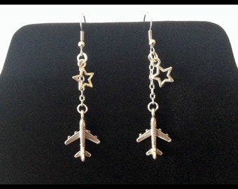 Airplane earrings - gift idea - Airhostess