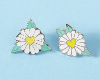 Daisy Enamel Pin Duo Set