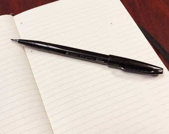Pentel Fude Touch Sign Pen // Black // Felt Pen Like Brush Stroke // SES15C-A