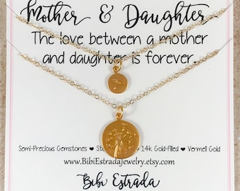 Dandelion Mother Daughter Necklace Mother Daughter Jewelry Mother Daughter Dandelion Necklaces Gold-filled Necklace Mother Daughter Gift