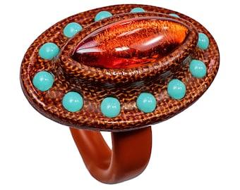 The Orbit Ring - Bakelite Jewelry Carved in Manhattan