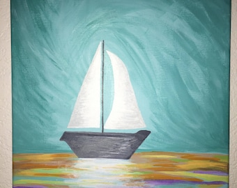 Sailboat painting // travel // adventure // sailboat decor