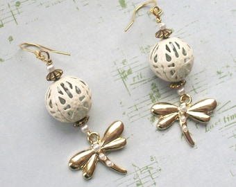 DRAGONFLY EARRINGS -Spring Garden Collection - Dragonfly Jewelry
