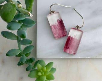 Peryline Violet - Watercolor Earrings