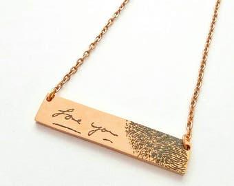 Fingerprint Necklace - Fingerprint Jewelry - Handwriting Necklace - Handwriting Jewelry - Signature Necklace - Memorial Jewelry - Thumbprint