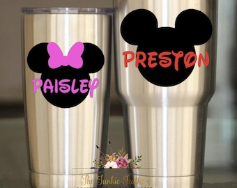 M Mouse Decal | Minni Bow Decal | Mickey Decal | Miny Decal | Personalized Decal | Monogrammed