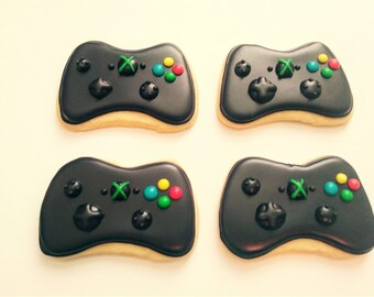 Xbox  Cookies- 1 dozen- Xbox Remote Cookies