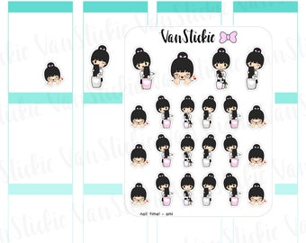 Chibits - Nail Time Planner Stickers | VSC 047