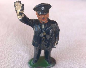 Vintage Metal Policeman Figurine
