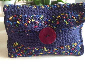 Blue cotton pouch