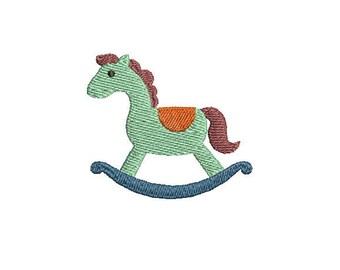 Mini Rocking Horse -Machine Embroidery Design