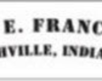 Chas E. Francis Rushville Indiana Factory Cart Lettering Kit