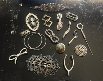 Vintage/Antique Jewelry Lot for Assemblage or Repair.