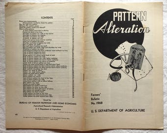 1945 Pattern Alteration Booklet, Farmers' Bulletin No. 1968 from the U.S. Department of Agriculture,  Margaret Smith (author)