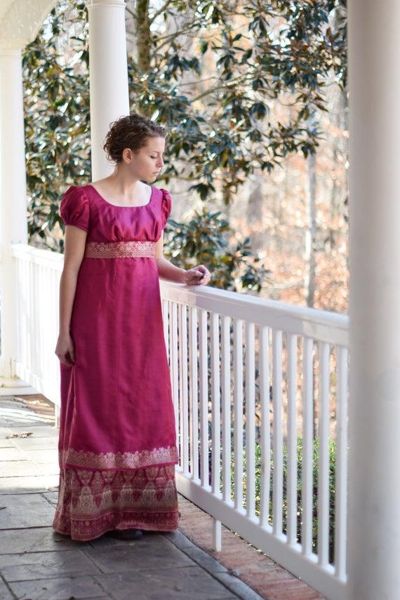 Regentschaft Ballkleid Jane Austen-Kleid stolz und Vorurteil