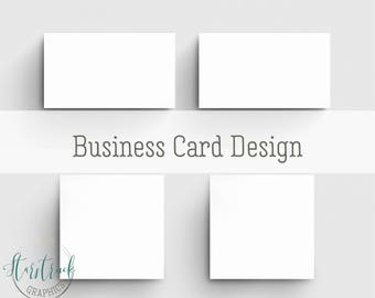 Business Card Design, Custom Business Cards, Square or Standard Business Card Design