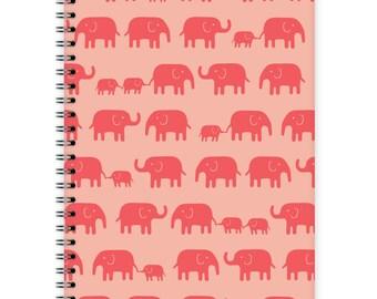Notebook A5 - Elephant Pattern