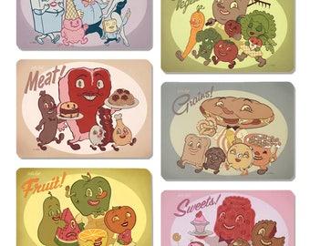 Let's Eat! - Postcard Collection by Nouar