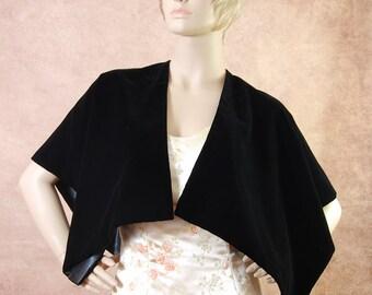High quality Black Triple Velvet  Wrap Palantine Stole. Exclusive