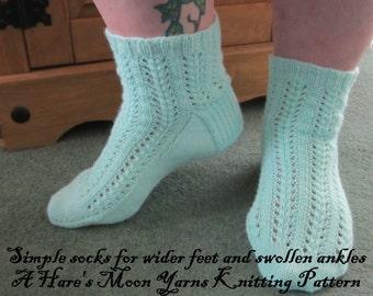 Sock knitting pattern