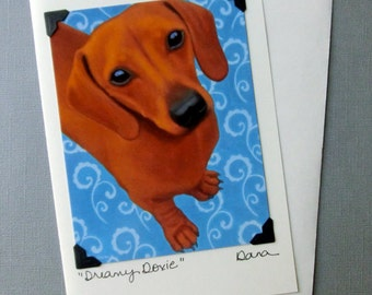 Doxie Card - Dachshund Card -  Proceeds Benefit Animal Charities