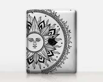 Sun Transparent iPad Case For - iPad 2, iPad 3, iPad 4 - iPad Mini - iPad Air - iPad Mini 4 - iPad Pro