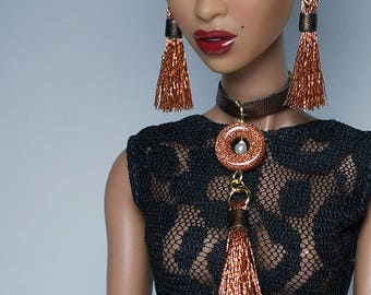 1/6 Scale Copper Goddess Statement Jewelry Set For FR Nu Face FR16 Numina Dolls