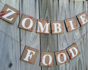 Halloween Decorations - Zombie Banner - Halloween Party Decor - Halloween Banner - The Walking Dead Inspired Decor - Halloween Home Decor