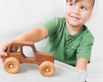 Wooden toy Jeep | personalized toy car | Jake the Jeep
