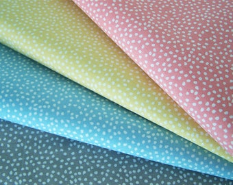 Set of four coupons with polka dots, 50 x 50 cm, cotton fabric