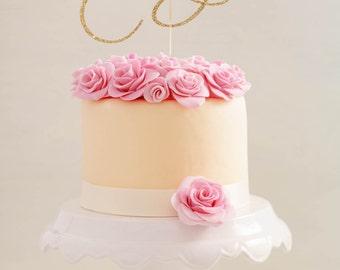 Sixty Birthday Cake Topper  l  Sixty Cake Topper  l  Sixtieth Birthday Topper  l  Sixtieth Wedding Anniversary  l  Sixty Anniversary Topper