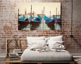 "Venice Canvas Print, Italy Wall Art Canvas Print, Large Wall Art, Gondolas in Venice Italy, Italy Wall Decor, Oversized Canvas Art ""Sploosh"""