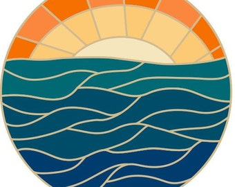 Across the Sea enamel pin