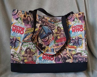 Dr. Who Inspired Tote Bag