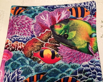 Tropical Fish Print Potholders set of 2