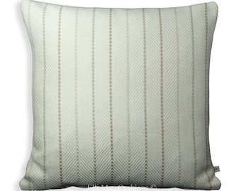 Sahco Designer Cushion Maloun Stripe Herring Bone Cream Cover