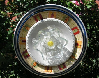 Super Colorful Plate Flower, Yard Art, Close Out Sale