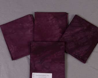 Fall Purple Hand Dyed Quilting Cotton Fat Quarter