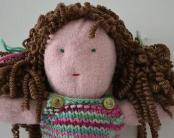 "Loveable, Huggable, 11"" Felt Doll"