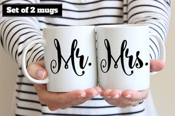Coffee Mug Set of Mr. and Mrs. Coffee Mugs