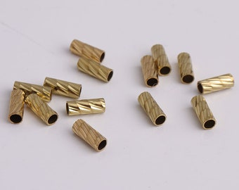 20pcs 10mm Long Beads Tube Gold Tube For Chain,Necklace Making