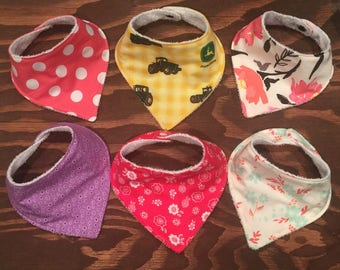 Baby Bandana Bibs, Snap Closure, Adjustable, Stylish