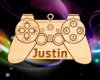 Personalized Wooden Controller Christmas Ornament