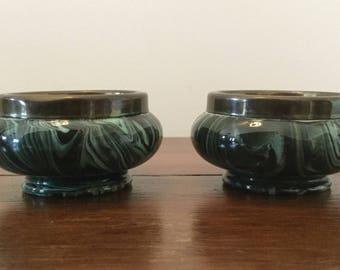 Pair of 1878 Macintyre salts or trinket bowls