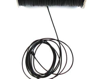 2 meters of black waxed cord 1 mm in diameter