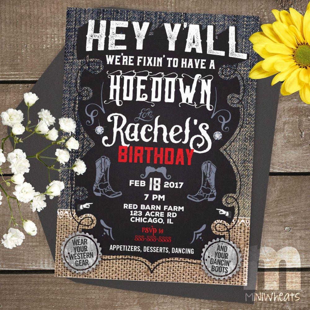 Nice Hoedown Party Invitations Elaboration - Invitations Design ...